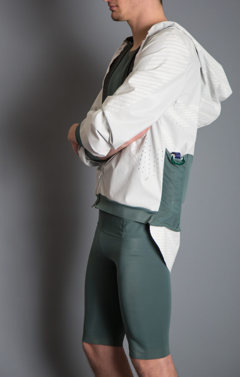 Concept outfit by Penn Textile Solutions and Penn Italia, created in synergy with Centro Studi Casnati, containing ROICA™