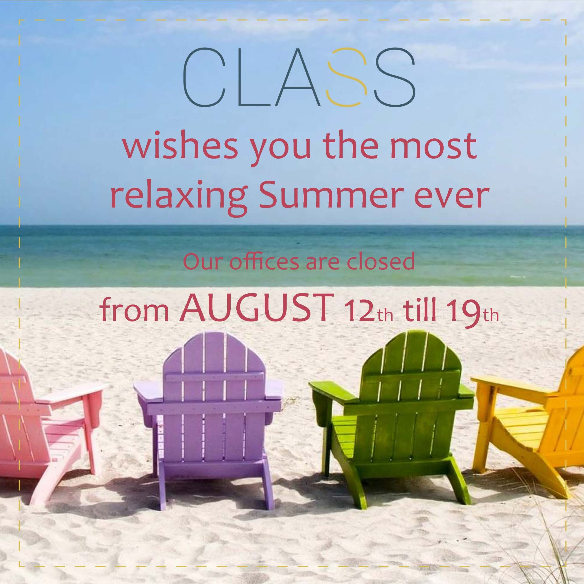 C.L.A.S.S. wishes you all an amazing Summer!